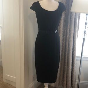 David Meister Midi Belted Dress